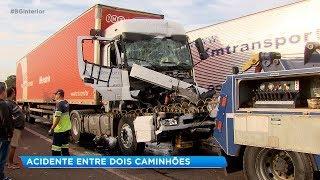 Caminhoneiro fica ferido em acidente na rodovia Marechal Rondon