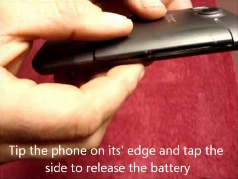 how to put a battery in a htc desire c