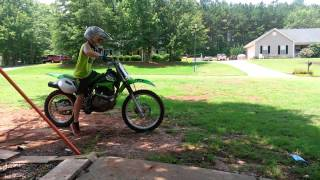 9. Cade riding KLX 125