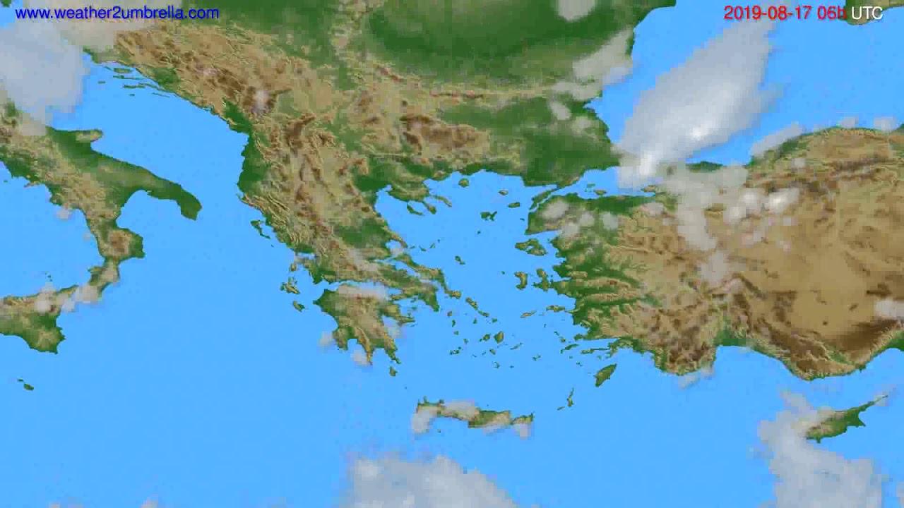 Cloud forecast Greece // modelrun: 00h UTC 2019-08-15