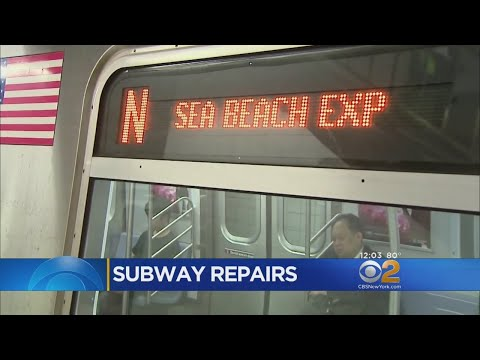 Subway Work Forcing Southbound N Train Station Skips Through Brooklyn (видео)