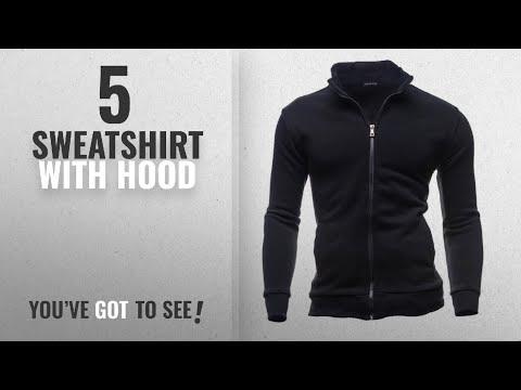 Top 10 Sweatshirt With Hood [2018]: Mumustar Plain Fleece Sweatshirt Zipper Jacket No Hooded Plain