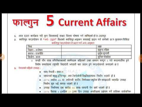 (Current Affairs loksewa  Nepal #122   5 Falgun 2075  loksewa preparation Smartgk  17  2019 - Duration: 13 minutes.)