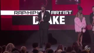Drake Wins Best Rap/Hip Hop Artist - AMA's 2016 Award