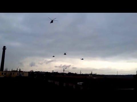 Ukraine War - Russian air force helicopters arrive to Crimea Ukraine