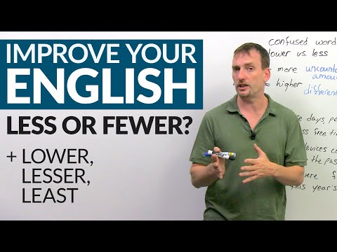 How & when to use LESS, FEWER, LESSER, and LEAST in English