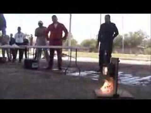 Coldfire demo en incendio electrico