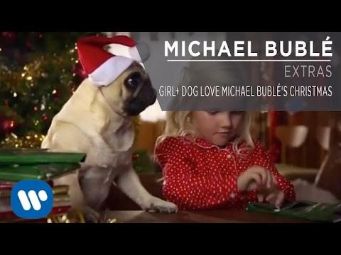 Girl+ Dog Love Michael Bublé's Christmas