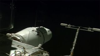 The SpaceX CRS-10 Dragon spacecraft was berthed to the International Space Station on 23 February 2017, at 13:12 UTC, using the Station's robotic Canadarm2. ...