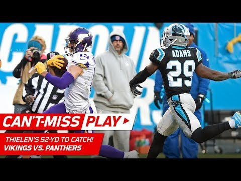 Video: Adam Thielen Breaks Free for Spectacular 52-Yd TD vs. Carolina! | Can't-Miss Play | NFL Wk 14