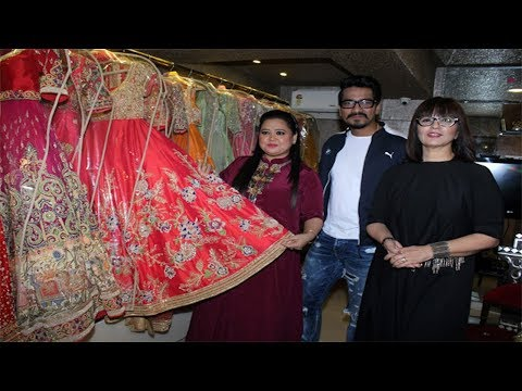 Bharti Singh selects her wedding outfit at Neeta L