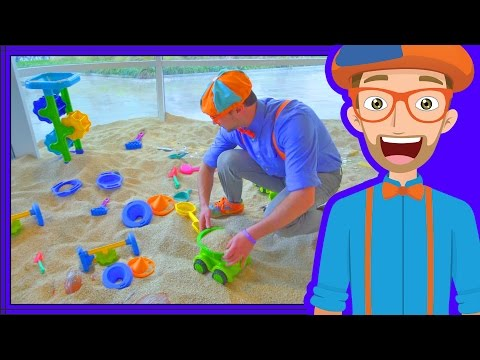 Blippi Plays at the Children's Museum | Learn Colors for Toddlers (видео)