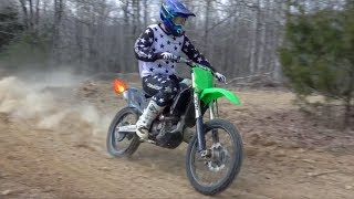 10. FIRST RIDE ON MY PROJECT KX450F!!