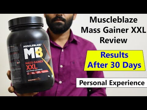 Muscleblaze Mass Gainer XXL Review in Hindi | How to Use, Weight Gain Results, Muscle Growth