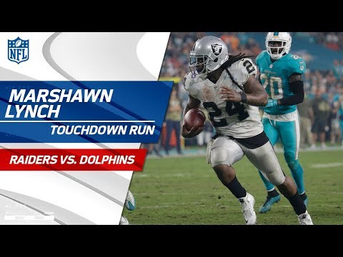 Video: Marshawn Lynch Leads Oakland Downfield for TD to Extend Lead! | Raiders vs. Dolphins | NFL Wk 9
