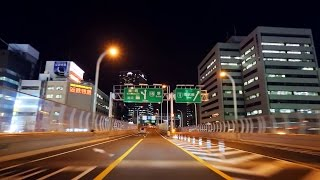 Moriguchi Japan  city photos gallery : 阪神高速12号守口線~15号堺線 夜景ドライブ Hanshin Expressway Moriguchi to Sakai Night Drive Osaka Japan