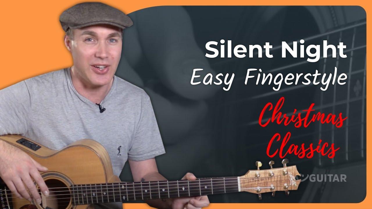 Silent Night – Easy Beginner Chord Melody Christmas Arrangement for Guitar – Guitar lesson ST-111