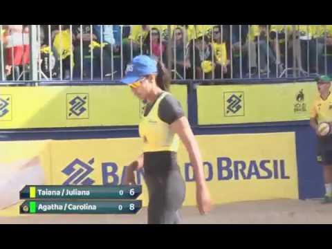 Open Curitiba-Taiana/Juliana x Agatha/Carolina-Circuito Brasileiro-semifinal (видео)