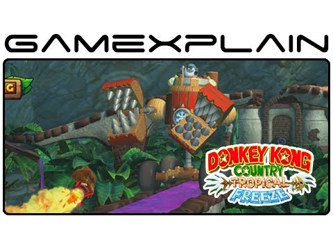 Amazing Rocket Barrel Level 5-2 In Donkey Kong Country: Tropical Freeze (Japanese Version)