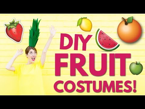 DIY HALLOWEEN COSTUME IDEAS: DIY Fruit Costumes!!
