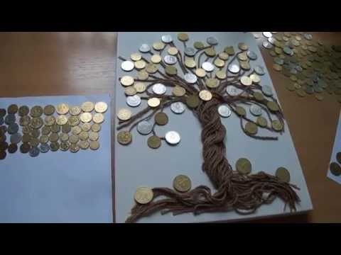 Картина денежное дерево из монет своими руками
