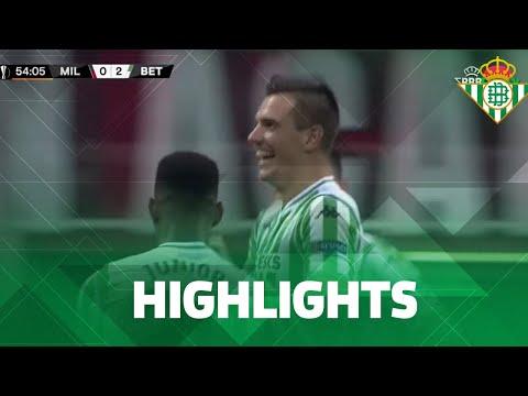 Resumen del AC Milan-Real Betis (1-2)