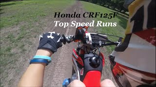8. Honda CRF125F top speed