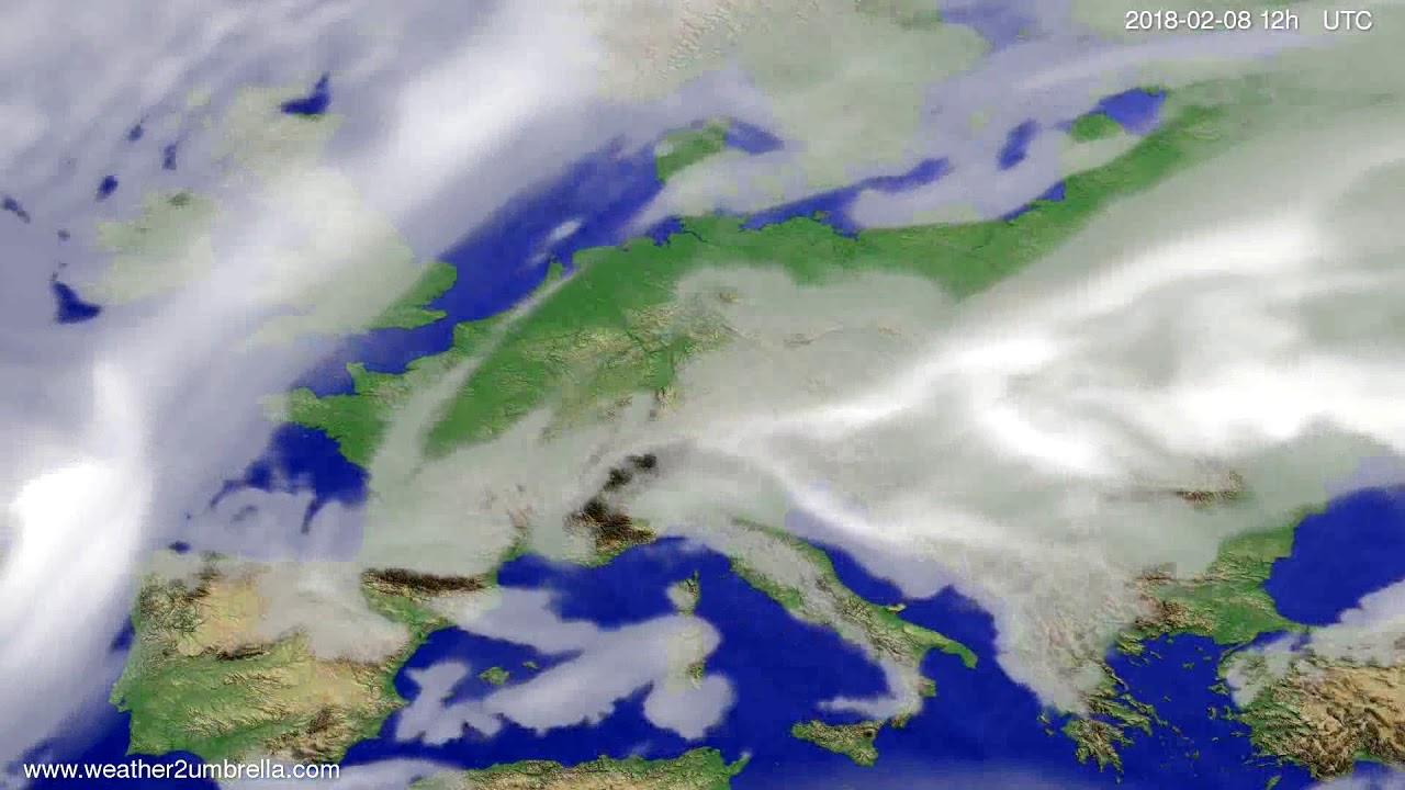 Cloud forecast Europe 2018-02-04