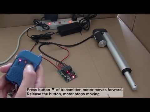 actuator - The video shows how to control the ac power linear actuator motor using ordinary 2-channel rf remote transmitter & receiver. It works with momentary and latc...