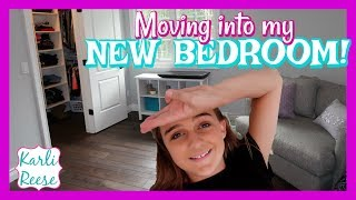 """I thought I would share some of me moving into my new bedroom.  Don't worry...Room Tour, Bathroom Tour, and Closet Tour will all be coming soon! Thanks for watching :)♥  SUBSCRIBE!   http://bit.do/karlireeseI post new videos every Friday!Watch my last video - https://youtu.be/RpJsT2ys7b41 Year Ago - https://youtu.be/XMFHRDnjkWADaily videos at my Our Family Nest - http://youtube.com/ourfamilynestMy Mom's Channel - http://bit.ly/2ffeAACMy Dad's Channel - http://bit.ly/2gh00roAndrew's Channel - I am Drew -  http://youtube.com/iamdrew95♥ FOLLOW ME ♥i  n  s  t  a  g  r  a  mhttp://instagram.com/karlireeset  w  i  t  t  e  rhttp://twitter.com/karlireesem u s i c a l y . l y24_karkar_24f  a  c  e  b  o  o  k http://facebook.com/iamkarlireeseb  l  o  g   http://karlireese.com*************************************************************♥ BUSINESS INQUIRIES ♥mail@ourfamilynest.com - Subject Line """"KarliReese""""*************************************************************Thank you for watching my video today! You can also find me on our family's channel - Our Family Nest.  On my channel you will find more of what I love... shopping, crafts, dance, gymnastics, and my pets…Pretty much anything girly! Thank you for stopping by and I hope you have fun here on my channel.Note... My YouTube channel is monitored and ran by my parents :)♥ Karli ReeseSome Music in videos by Epidemic Sound - http://www.epidemicsound.com"""