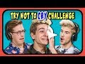 Download Lagu YouTubers React To Try Not To Cry Challenge #3 Mp3 Free