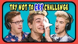 YouTubers React To Try Not To Cry Challenge #3