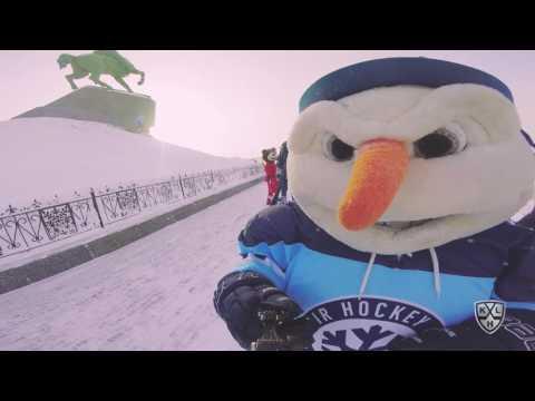 Маскоты на Неделе Звезд Хоккея 2017 в Уфе (видео)