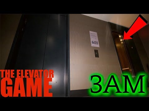 (GONE WRONG) PLAYING THE ELEVATOR GAME AT 3AM **She Found us** (видео)
