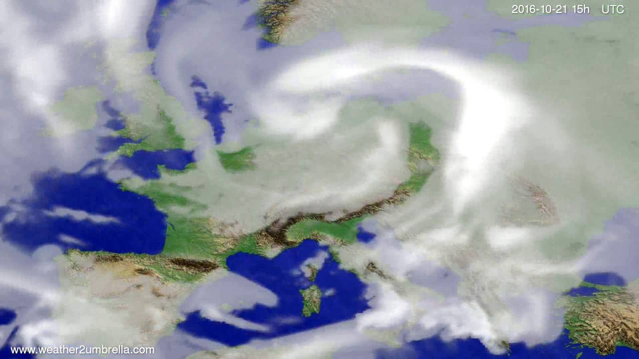 Cloud forecast Europe 2016-10-19