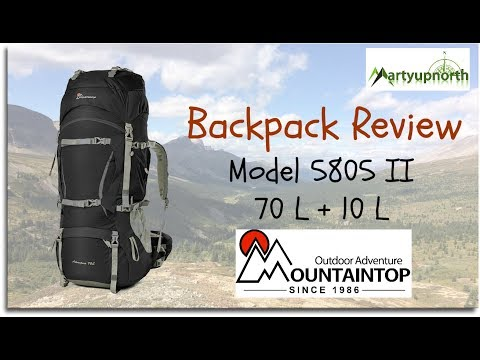 Review of Mountaintop Outdoor Adventure's 70 L + 10 L Backpack (видео)