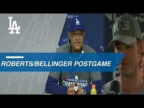Video: NLCS Gm7: Roberts, Bellinger on World Series berth