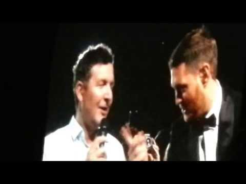 Michael Buble - man from audience sings at O2 arena London 12.07.2013