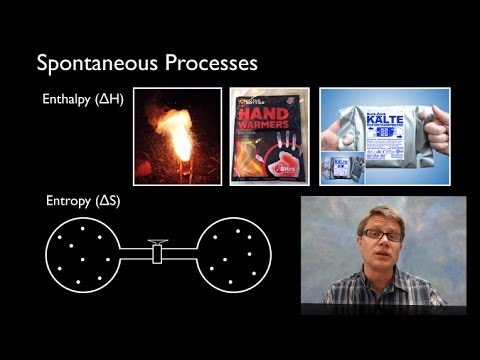 spontaneous - 058 - Spontaneous Processes In this video Paul Andersen discriminates between spontaneous (or thermodynamically favored) processes and those that are not spo...