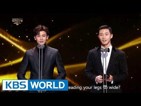 Park Seo Joon & Park Hyungsik from Hwarang presents an award [2016 KBS Drama Awards/2017.01.03] (видео)