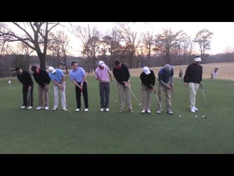 9顆高爾夫球,同時一竿進洞!