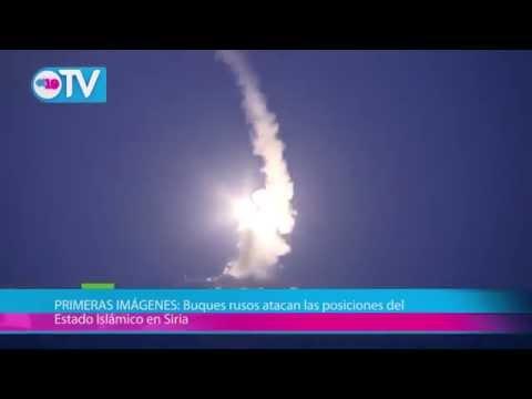 PRIMERAS IMÁGENES: Buques rusos atacan las posiciones del Estado Islámico en Siria
