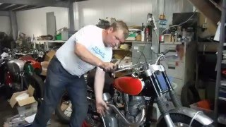 6. Royal Enfield Redditch 500 Greenlaner start up and slow idle.