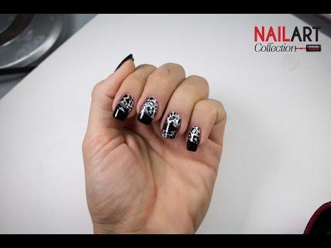 nail art con foil maculato