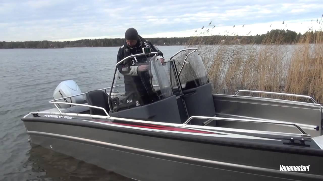 Алюминиевый катер Faster 545 SC | Обзор катера для рыбалки с откидной аппарелью