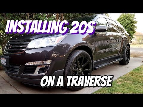 Installing custom wheels on a Chevrolet Traverse