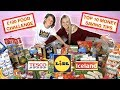 £100 FOOD SHOPPING CHALLENGE 🤑 HOW MUCH CAN WE BUY? MONEY SAVING TIPS LIDL TESCO ICELAND VEGAN HAUL