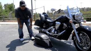4. 2009 Yamaha V Star 1300 Lamellar Motorcycle Hard Saddlebags Review - vikingbags.com