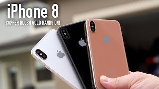 Video Copper Blush Gold iPhone 8 Model Hands On (ALL COLORS) MP3, 3GP, MP4, WEBM, AVI, FLV Agustus 2017