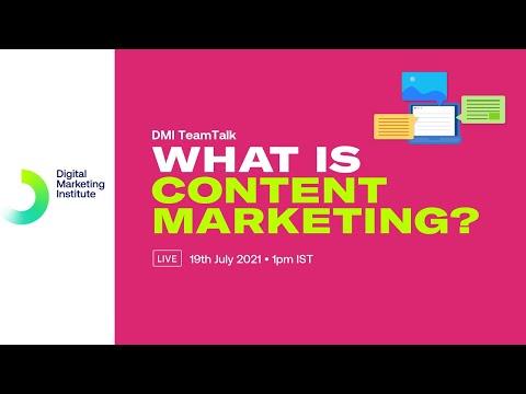 What is content marketing? | DMI TeamTalk | Digital Marketing Institute